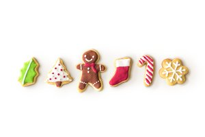 Christmas Gingerbread Cookies (PNG)