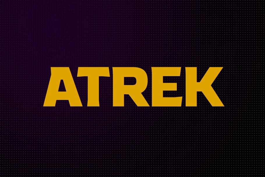Atrek - Bold, Inline & Cutline ~ Sans Serif Fonts ~ Creative Market