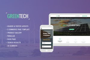 Green Tech Website Template