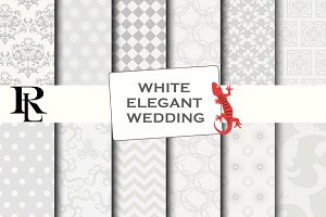 White digital paper - wedding