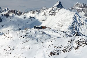 Apres ski mountain hut