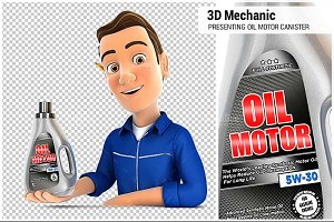 3D Mechanic Presenting Oil Motor