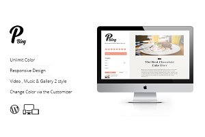 P-blog Responsive Personal Wordpress