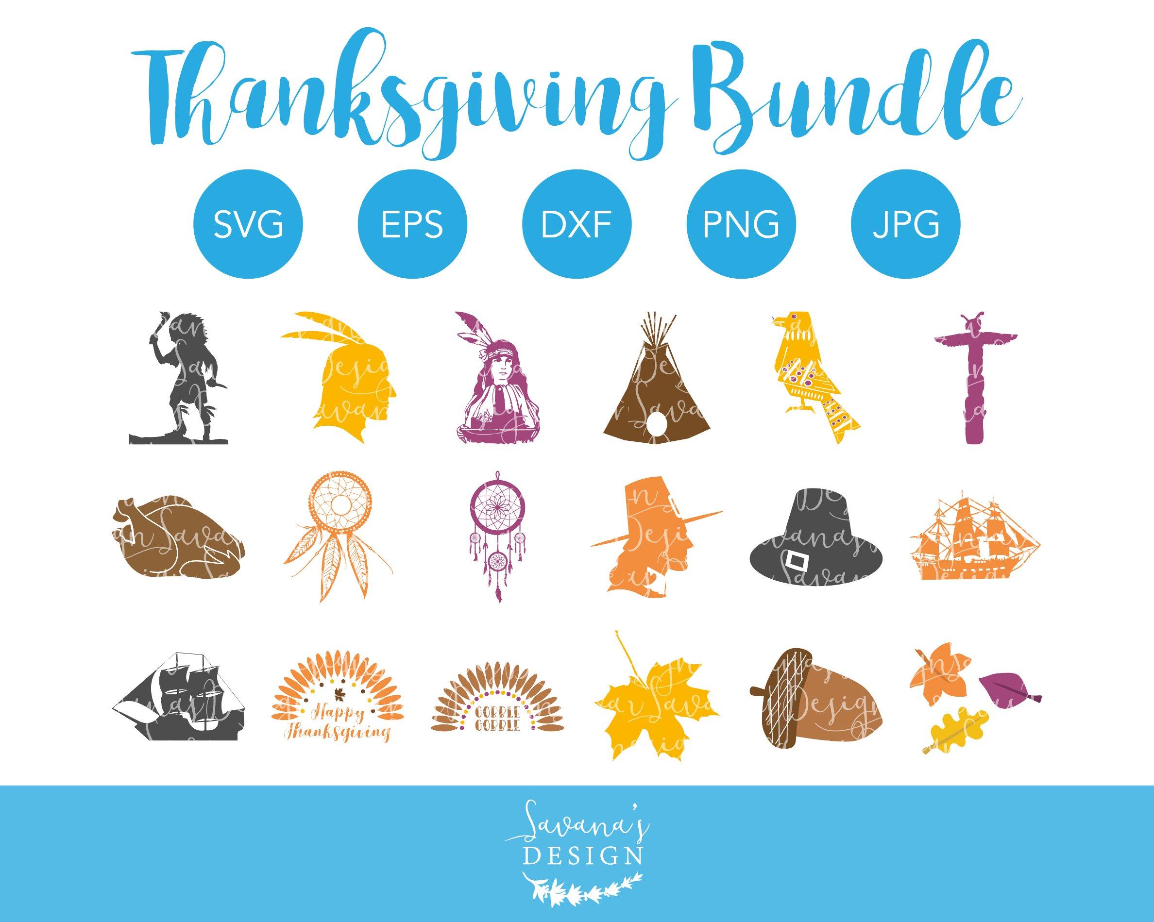 Thanksgiving Svg Bundle Cut Files Pre Designed Illustrator Graphics Creative Market