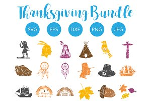 Thanksgiving SVG Bundle Cut Files
