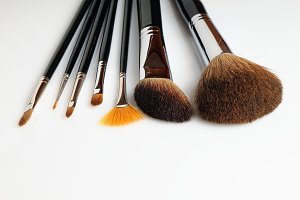 Brush set makeup front view