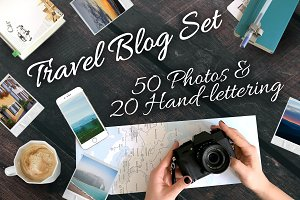 Travel Blog Photo+Handlettering Set