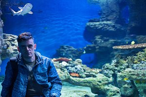 in the oceanarium