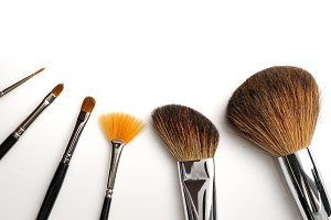 Brush set makeup top view