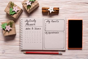 Daily Planner, Christmas concept