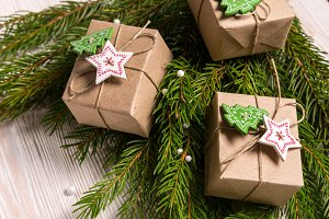 Gift boxes, Christmas concept