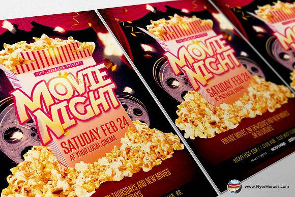 Movie Night Flyer Template Flyer Templates on Creative Market – Movie Night Flyer Template