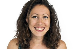 Woman Smiling Happy Portrait (PNG)