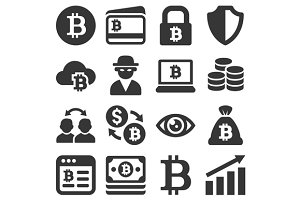 Bitcoin Icons Set