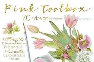 PINK TOOLBOX-70+DesignElements
