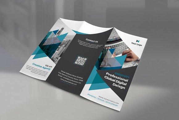 Trifold Brochure-Graphicriver中文最全的素材分享平台