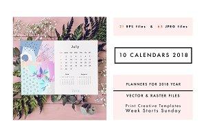 2018 CALENDARS set