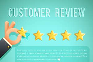 Star rating review customer
