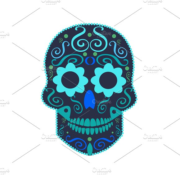 Blue Skull Halloween Icon