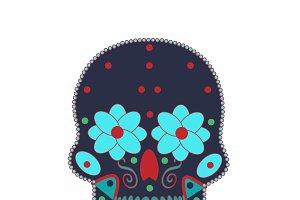 Skull icon blue
