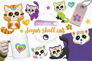Sugar cats graphics & illustrations