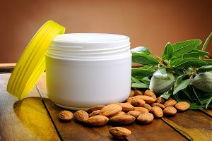 Almond cream for skin care