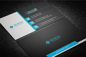 Multicolor Business Card