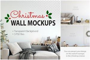 Christmas Wall Mockups