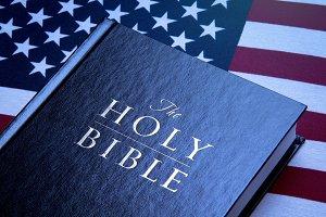Bible & USA Flag