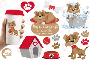 A Dogs Life Clipart AMB-594