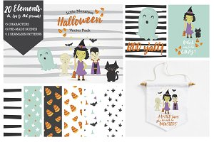 Cute Halloween Vector Pack