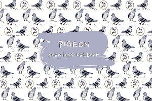 Pigeon seamless pattern