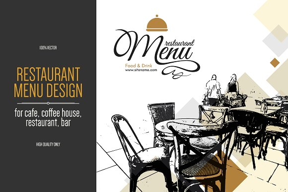 Restaurant menu design with-Graphicriver中文最全的素材分享平台