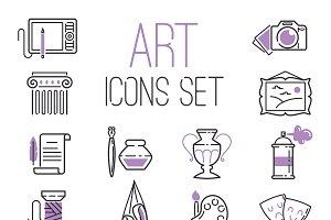 Art design creators icon set