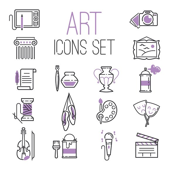 Art Design Creators Icon Set