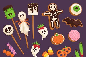 Halloween cookie cake symbols