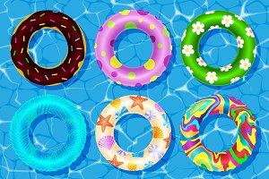 Rubbeк water sea rings vector toy