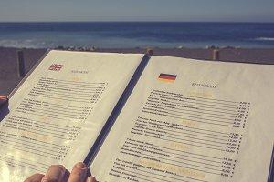Choosing from the menu