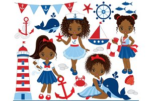 Vector Nautical Kids Clipart