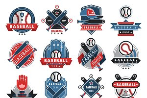 Baseball logo badge sport team