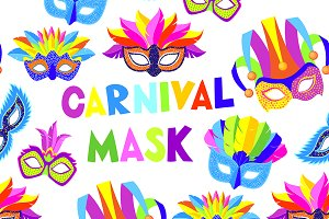 Carnival masks pattern