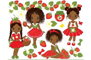 Vector Strawberry Set