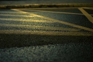 Road surface at night