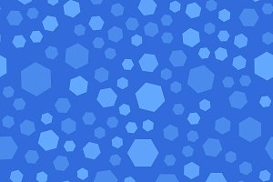 Blue polygon seamless pattern