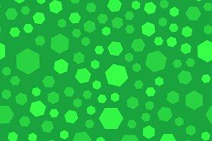 Green polygon seamless pattern