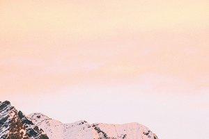 mountain study - sunset no.1