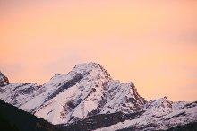 mountain study - sunset no.2