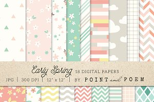 Spring Digital Paper Pack