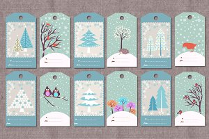 Winter/Christmas gift tags