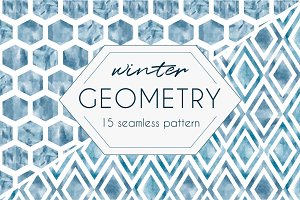 Winter GEOMETRY pattern set